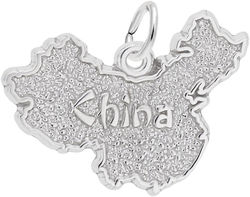China Map Charm (Choose Metal) by Rembrandt