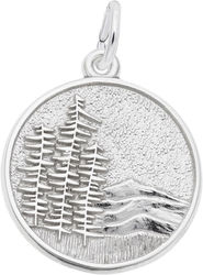 Mountain Scene Charm (Choose Metal) by Rembrandt