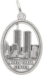 World Trade Center Charm (Choose Metal) by Rembrandt