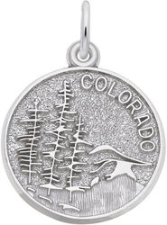 Colorado Mountain Scene Charm (Choose Metal) by Rembrandt