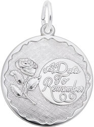 A Date To Remember w/ Rose Charm (Choose Metal) by Rembrandt