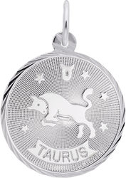 Taurus Constellation Charm (Choose Metal) by Rembrandt