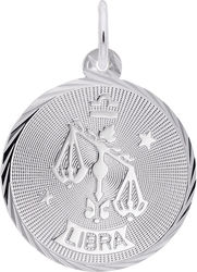 Libra Constellation Charm (Choose Metal) by Rembrandt