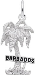 Barbados Palm Tree Charm (Choose Metal) by Rembrandt