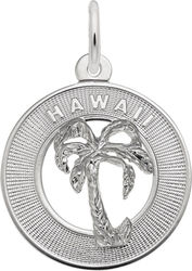 Hawaii Palm Tree Ring Charm (Choose Metal) by Rembrandt