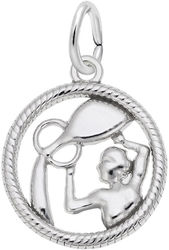 Aquarius Water Carrier Charm (Choose Metal) by Rembrandt