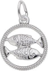 Pisces Fish Charm (Choose Metal) by Rembrandt