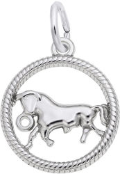 Taurus Bull Charm (Choose Metal) by Rembrandt