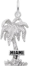 Miami Palm Tree Charm (Choose Metal) by Rembrandt