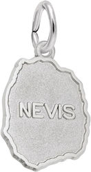 Nevis Map Charm (Choose Metal) by Rembrandt