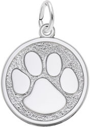 Paw Print Charm (Choose Metal) by Rembrandt