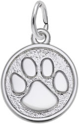 Small Paw Print Charm (Choose Metal) by Rembrandt