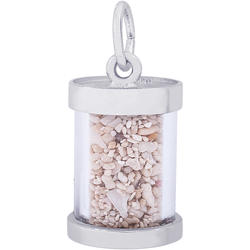 St. Maarten Sand Capsule Charm (Choose Metal) by Rembrandt