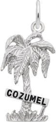 Cozumel Palm Tree Charm (Choose Metal) by Rembrandt