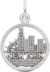 New York City Skyline Charm (Choose Metal) by Rembrandt