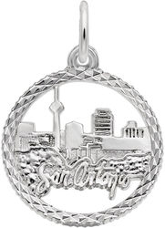 San Antonio Skyline Charm (Choose Metal) by Rembrandt