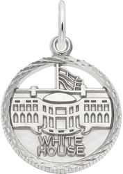 White House Faceted Charm (Choose Metal) by Rembrandt