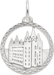 Mormon Temple Faceted Charm (Choose Metal) by Rembrandt