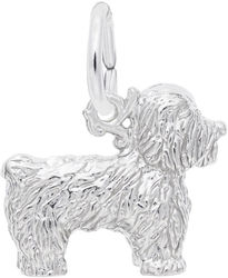 Bichon Frise Dog Charm (Choose Metal) by Rembrandt