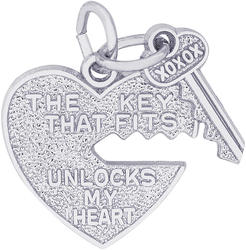 Key That Fits Heart Charm (Choose Metal) by Rembrandt