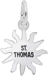 St. Thomas Sun Small Charm (Choose Metal) by Rembrandt