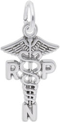 Registered Practical Nurse Caduceus Charm (Choose Metal) by Rembrandt