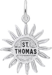 St. Thomas Sun Large Charm (Choose Metal) by Rembrandt
