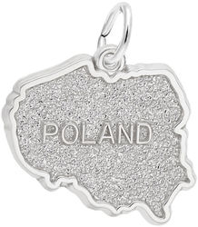 Poland Map Charm (Choose Metal) by Rembrandt