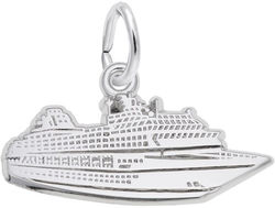 Flat Cruise Ship Charm (Choose Metal) by Rembrandt