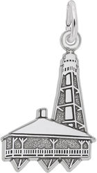 Sanibel Island, FL Lighthouse Charm (Choose Metal) by Rembrandt