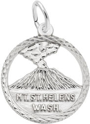 Mt. St. Helens Faceted Charm (Choose Metal) by Rembrandt