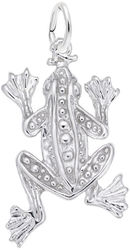 Leopard Frog Charm (Choose Metal) by Rembrandt