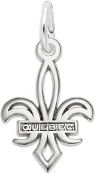 Small Quebec Fleur De Lis Charm (Choose Metal) by Rembrandt