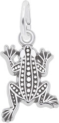 Flat Leopard Frog Charm (Choose Metal) by Rembrandt