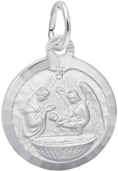 Baptism Charm (Choose Metal) by Rembrandt