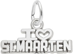 I Love St. Maarten Charm (Choose Metal) by Rembrandt