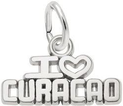 I Love Curacao Charm (Choose Metal) by Rembrandt