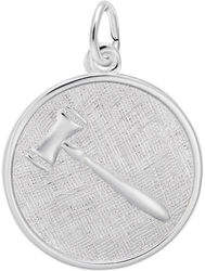 Gavel Charm (Choose Metal) by Rembrandt