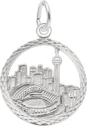 Toronto Skyline Faceted Charm (Choose Metal) by Rembrandt