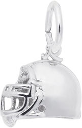Classic Football Helmet Charm (Choose Metal) by Rembrandt