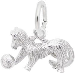Playful Cat Charm (Choose Metal) by Rembrandt