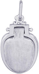 Toilet Seat Charm (Choose Metal) by Rembrandt