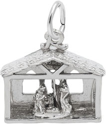 Nativity Charm (Choose Metal) by Rembrandt