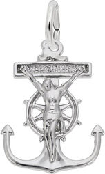 Mariners Cross Charm (Choose Metal) by Rembrandt