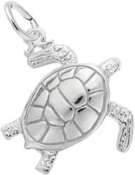 Sea Turtle Charm (Choose Metal) by Rembrandt