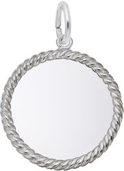 Small Rope Charm (Choose Metal) by Rembrandt