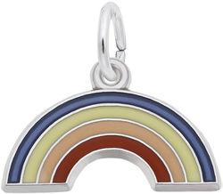 Rainbow Charm w/ Red, Pink, Yellow & Blue Enamel (Choose Metal) by Rembrandt