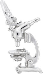 Microscope Charm (Choose Metal) by Rembrandt