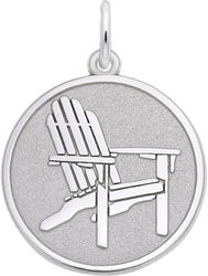 Adirondack Chair Medallion Charm (Choose Metal) by Rembrandt