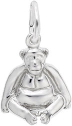 Sitting Monkey Charm (Choose Metal) by Rembrandt